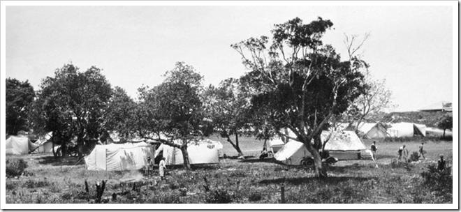 camping queensland vintage