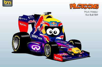 Марк Уэббер Red Bull RB9 pilotoons 2013