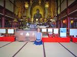 Jedna zeświątyń buddyjskich wcentrum handlowym Kioto.