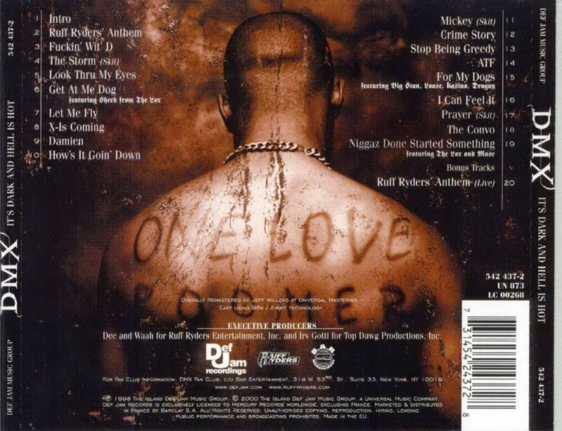 DMX- It's Dark And Hell Is hot-Back