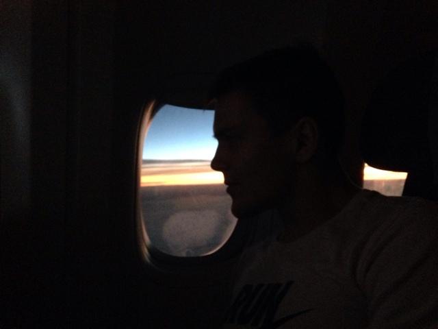 Sunrise lentokone auringonnousu