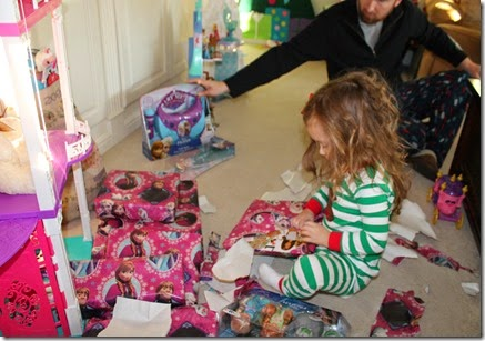 Zoey opening up Santa gifts11