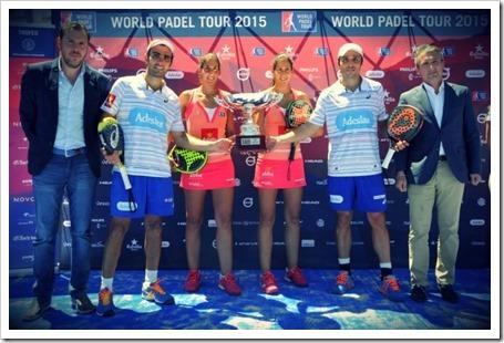 Belasteguín-Lima y hermanas Sánchez Alayeto Campeones en el Estrella Damm Valladolid Open trofeo Universidad de Valladolid WPT 2015.