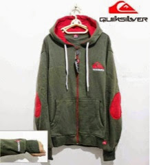 Jaket Quicksilver 02 Coklat Elbow Merah