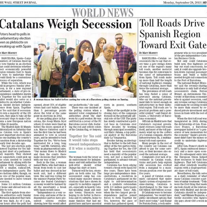El 28-S. Post-elecciones catalanas.