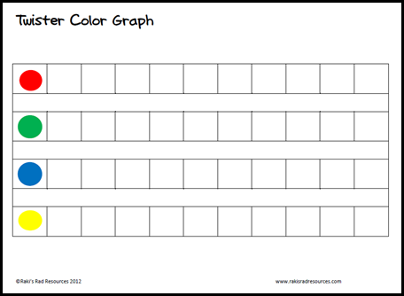 Free download - twister recording sheet to use your twister board to teach math. From Raki's Rad Resources