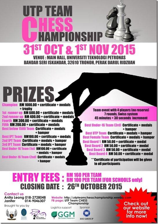 UTP TEAM CHESS CHAMPIONSHIP POSTER3 -2015