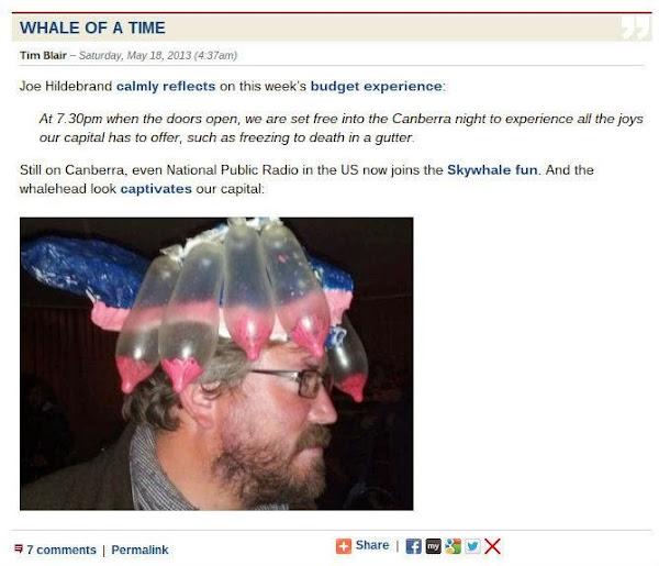tim blair screenshot