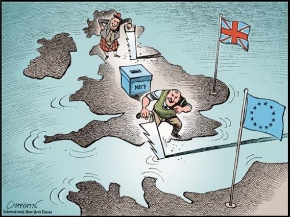 eleccions generalas al Reialme-Unit umor anglés
