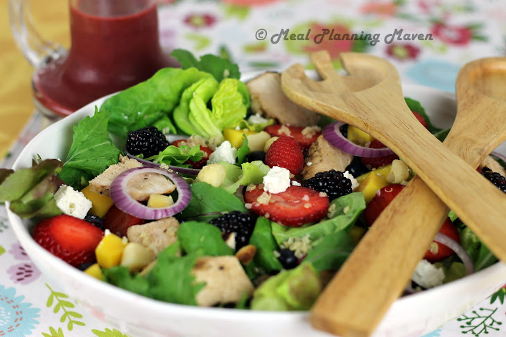 Grilled Chicken Salad with Berry-Balsamic Vinaigrette Recipe | Yummly