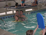 Hannah, Bryan and Jeff in the pool at the Hampton Inn in St Louis 03192011a