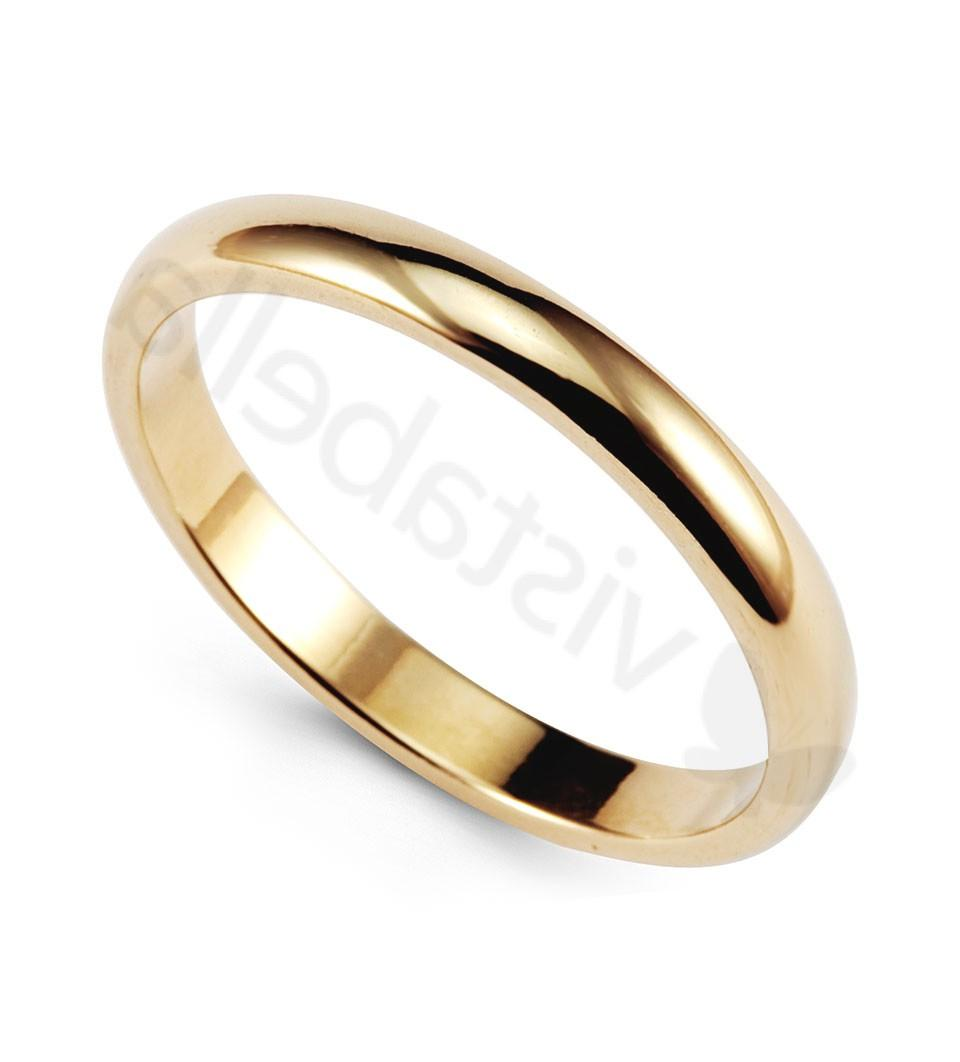14k Yellow Gold Wedding Band Solid Anniversary Ring - Wedding Bands - Bridal