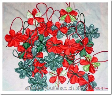 Kanzashi Christmas Ornaments
