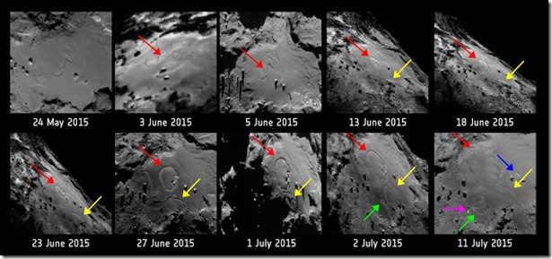 Comet_surface_changes_annotated cometa 67P