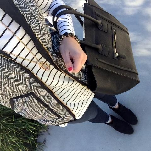 j. crew herringbone vest, preppy style, fall fashion