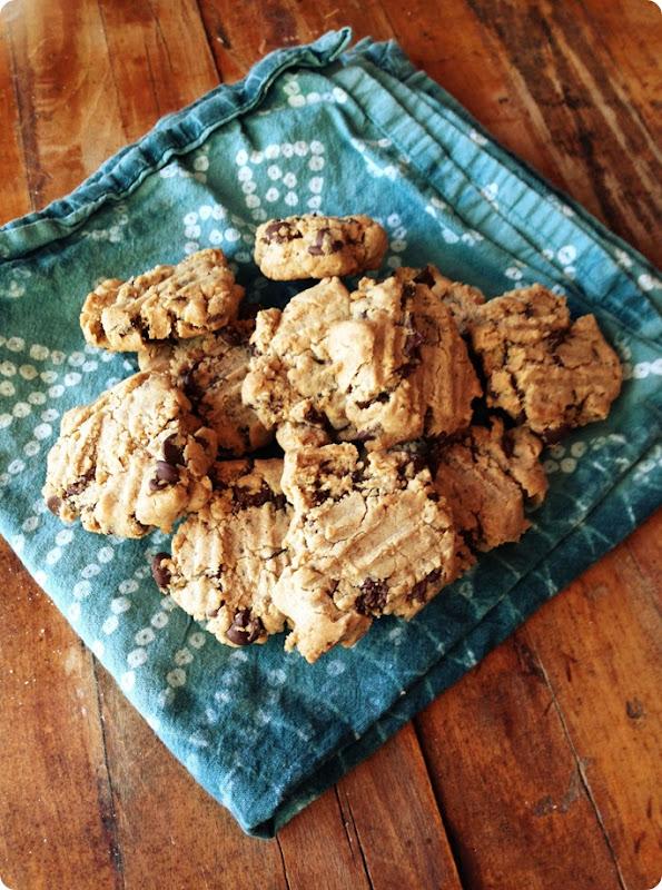 paleo cassava flour chocolate chip cookies