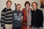 El Luthier Daniel Bernaert, el guitarrista Pepe Payá con Cristina Sánchez Rivas, Directora Técnica de las Jornadas y José Luis Ruiz del Puerto, Director Artístico.