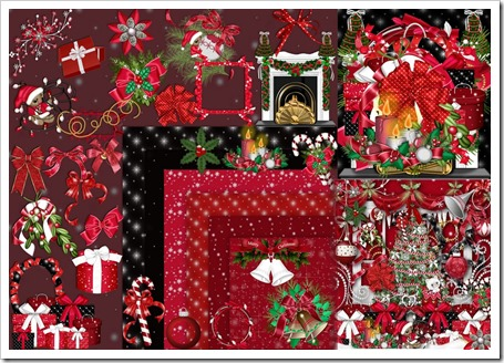Christmas scrap decor clipart