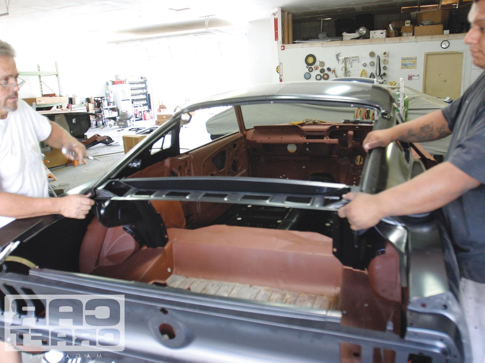 1967 Ford Mustang Coupe To Fastback Conversion Filler Panel Support
