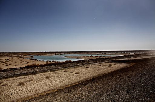 Only 15 years ago, Hamoun was the seventh largest wetland in the world, straddling 4,000 square kilometres (1,600 square miles) between Iran and Afghanistan, with water rolling in from the latter's Helmand river. Photo: AFP