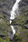 Langs de Trollstigen (voorbij Geiranger).