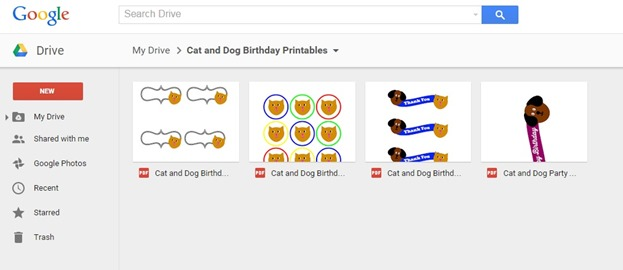 Cat and Dog Birthday Printable PDFs