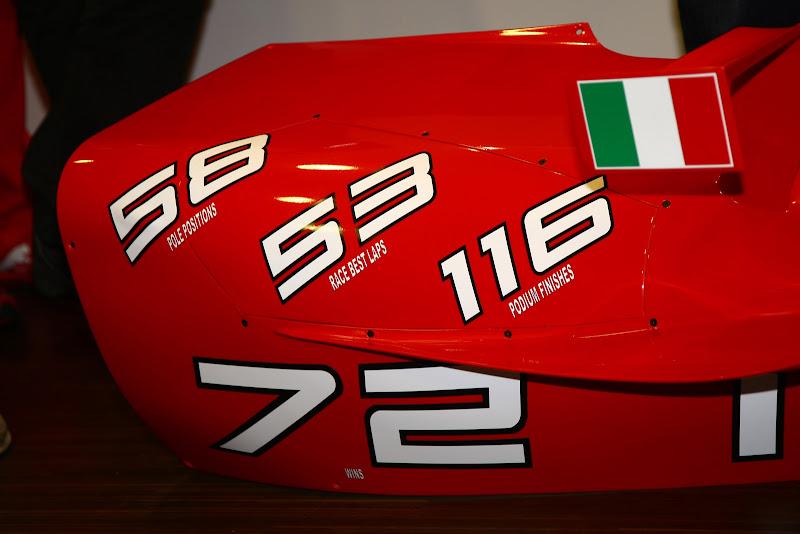боковой понтон - подарок от Ferrari Михаэлю Шумахеру на Гран-при Бельгии 2011