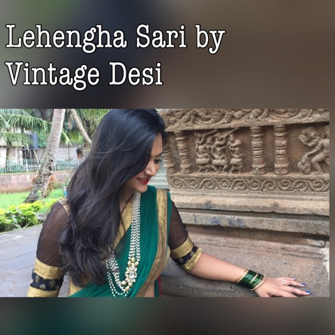 ready to wear sari, lehenga sari, ethnic wear, vintage desi review, indian traditional wear, kamal basthi belgaum