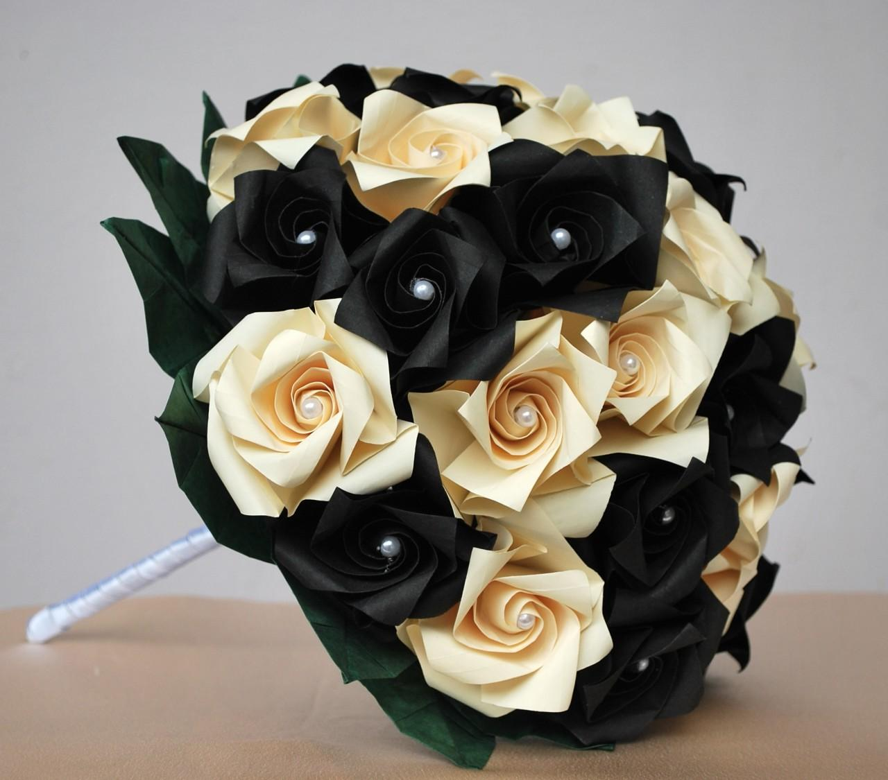 black and ivory wedding