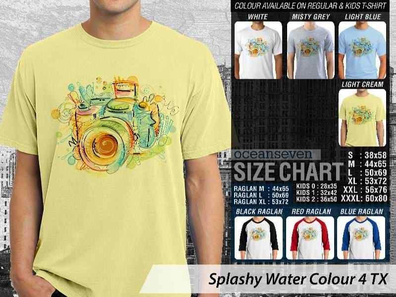Kaos artwork keren Splashy Water Colour 4 Kamera Camera Photography distro ocean seven