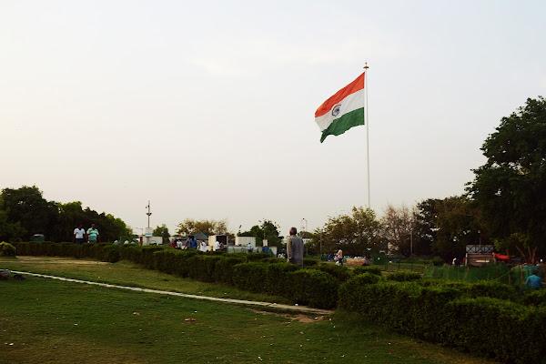 индия флаг огромный дели