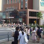 world porters crossing in yokohama in Yokohama, Tokyo, Japan