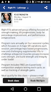 Right Fit Sports Fitness - screenshot