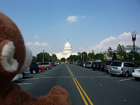 CM goes toward Capitol --- We head to the United States Botanic Garden, and see the Capitol.