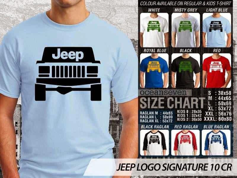 jual kaos jeep Logo Signature 10 distro