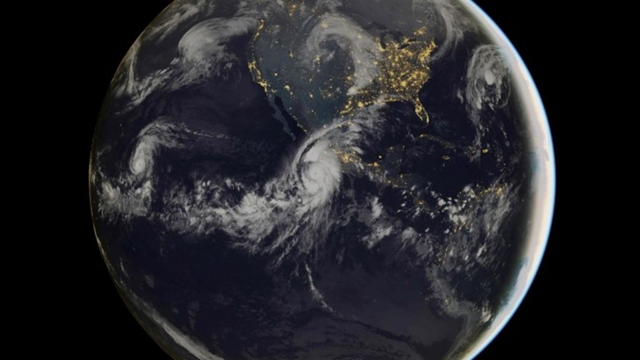 Composite image of category 5 Hurricane Patricia, off the Pacific coast of Mexico, from 06:00 UTC on Friday, 23 October 2015. Photo: EUMETSAT