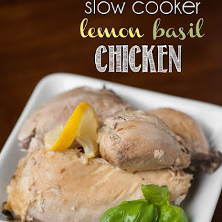 Slow Cooker Lemon Basil Whole Chicken