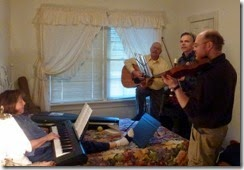Jam session with Judy, David, Keith and Jeff