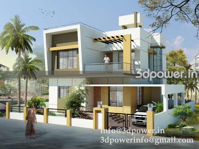 3D view of Individual Bungalow West facing.