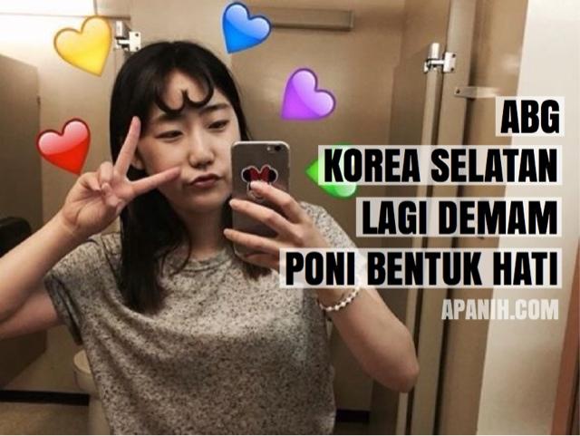 korea selatan lagi heboh rambut pni berbentuk hati love