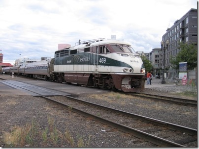 IMG_8618 Amtrak F59PHI #469 at Union Station in Portland, Oregon on August 19, 2007