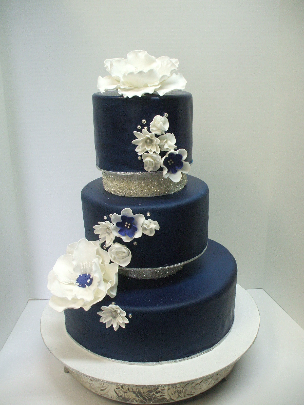Navy Blue Wedding Cake
