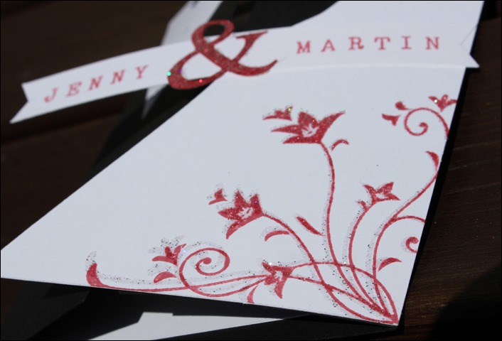 Hochzeitskarte Brautkleid Frack 02