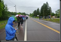 My view at Mile five...it is getting smaller!
