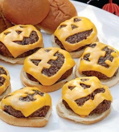 recetas-faciles-halloween-hamburguesas-queso-calabaza