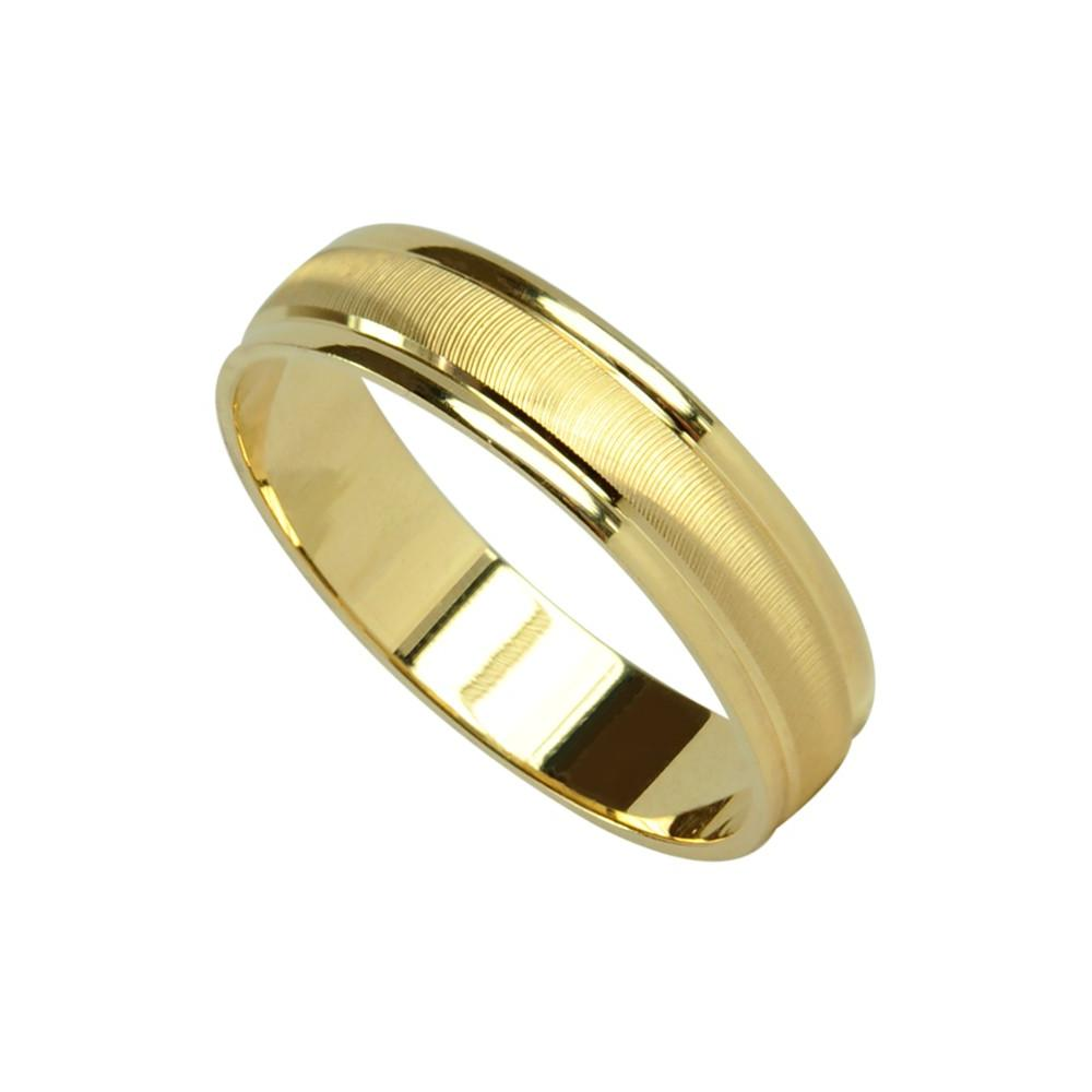 Home  ; Yellow gold Bergamo wedding ring