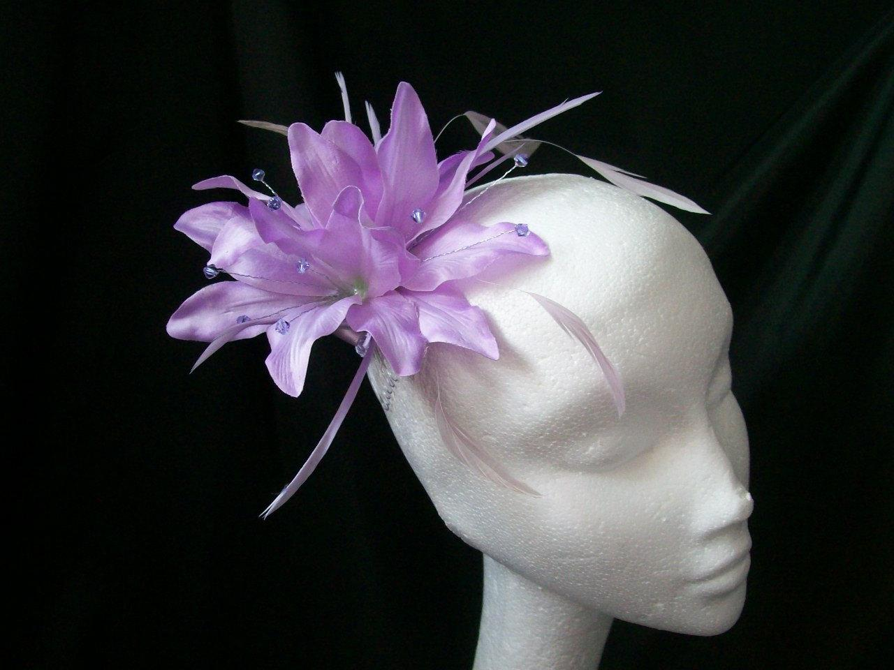 Lilac Lavender Lily Feather