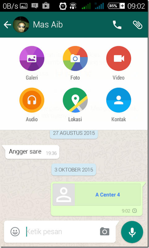 tutorial mengirim contact via whatsapp