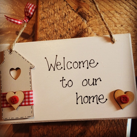 Welcome to our home plaque