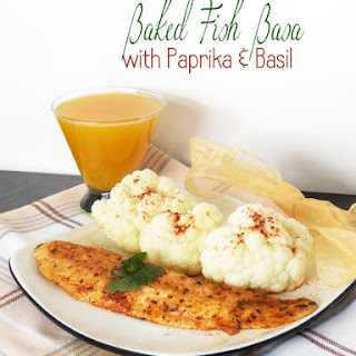 Baked Fish Basa with Paprika & Basil